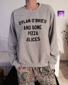 Dylan O'brien and some pizza slices black by stupidstyle on Etsy
