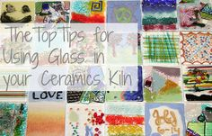 You can use glass in your ceramics kiln! All of these examples were done by 6-9 year old students!