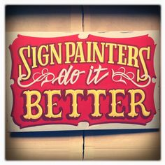 sweet hand-lettered sign Sign Painting Colection by Caetano Calomino, via Behance