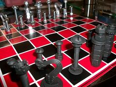 projects ideas metal chess pieces. Hardware Chess Sset 7 Clever DIY Projects to Inspire Your Creativity  sets