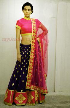 Indian Bridal Wear, Priyal Prakash | Myshaadi.in#bridal wear#india#bridal lehengas#designer bridal outfits#indian wedding
