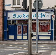 Dublin Restaurants [ Blue Skies Cafe On Bolton Street ] REF-103933 [BY WILLIAM MURPHY]