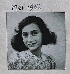 Anne Frank, born June 6, 1929, died March 1945 (from typhus contracted in Bergen-Belsen concentration camp) a few days after her older sister Margot had died from the disease in the camp. Their deaths occurred about a month before the camp's liberation on April 12, 1945. Anne kept a diary, which chronicled the twenty-five months during which she, her family, and four other Jews were together in hiding at 263 Prinsengracht, Amsterdam, Netherlands. The diary was published in 1947.