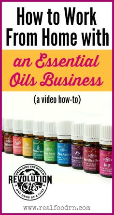 A video how-to that teaches YOU how to work from home with an essential oils business. Come listen to our personal stories! realfoodrn.com/essentialoils #youngliving #essentialoils #workfromhome