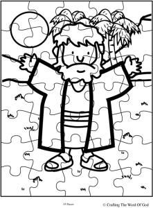 Free Printable Puzzle Of Joseph Comes In Three Different Piece Amounts