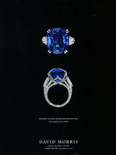 David Morris Sapphire and Diamond ring
