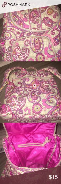 Vera Bradley Backpack Vera Bradley Pink Paisley Backpack. Back pack is in great used condition. Smoke free home Vera Bradley Bags Backpacks