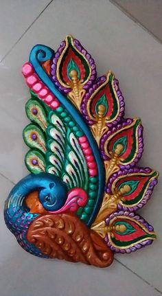 Diya Decoration Ideas, Diwali Decorations, Diwali Diya, Diwali Craft, Clay Wall Art, Clay Art, Tattoo Design Drawings, Tattoo Designs, Mural Art
