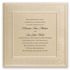 Framed in Luxury Invitation