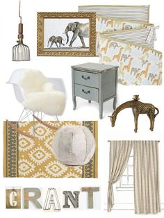 Vintage boy nursery....even has Grant's name in there!
