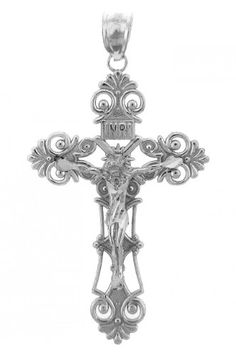 Sterling Silver Inri Crucifix Pendant -- Continue to the product at the image link. Note: It's an affiliate link to Amazon.