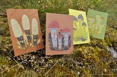 mushroom postcards by Rita Fürstenau