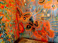 detail of Butterflie - secret room of Walter Anderson at his museum in Ocean Springs, Mississippis