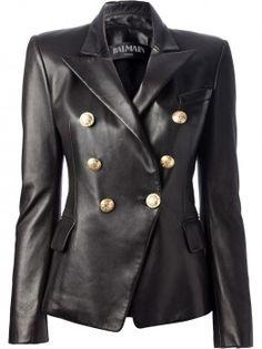 Balmain Double Breasted Leather Blazer worn by Kim on Keeping Up With The Kardashians. Shop it: http://www.pradux.com/balmain-double-breasted-leather-blazer-33073?q=s26