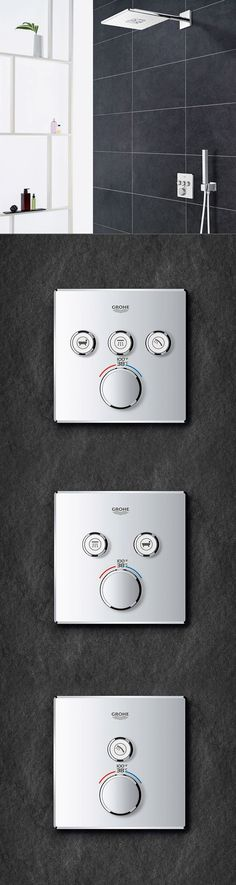 GROHE GrohTherm SmartControl packs the latest shower customization technology into an elegant, intuitive design that you'll enjoy every ti ..