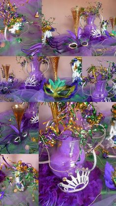 Click here to go to Mardi Gras Party Boards: http://pinterest.com/search/boards/?q=Mardi%20Gras%20Party            Mardi Gras Colored Theme Party inspiration