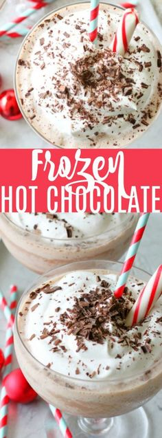 Frozen Hot Chocolate - a copycat Serendipity recipe made with less calories thanks to Sweet'N Low® Frozen Hot Chocolate, Hot Chocolate Recipes, Chocolate Cheese, Yummy Drinks, Delicious Desserts, Dessert Recipes, Meal Recipes, Frozen Desserts, Frozen Treats