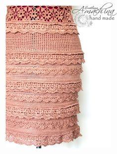 """The Silver Age,"" based on Vanessa Montoro. Arts and crafts fair. Irish Crochet, Crochet Motif, Crochet Lace, Crochet Stitches, Crochet Patterns, Crochet Summer, Skirt Patterns, Coat Patterns, Blouse Patterns"
