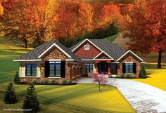 Looking for a contemporary style, single level ranch home?Wonderful example from Family Home Plans 73141