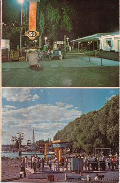 Two early views of Roseland Park