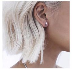T Bar Line or CIrcle Stud Earrings Colors: Gold, Silver, Black (circle earrings only) Butterfly backing FEEL BEAUTIFUL with these elegant and simple minimalist style earrings. Great everyday earrings. Delicate stud earrings are casual enough for everyday wear and sure to compliment any