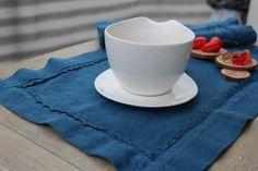 platzsets leinen blau natur leinen vorgewaschen von Leinen und Holz auf DaWanda.com