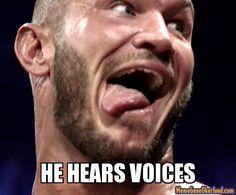 wrestling memes | he hears voices - | Meme Gene Okerlund - WWE Wrestling Meme Generator