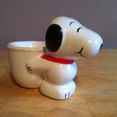 Vintage Novelty Fun Snoopy Dog Egg Cup by OurGrannysAttic on Etsy