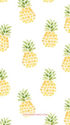 Pineapples iPhone wallpaper