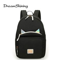 31.39$  Buy now - http://vicee.justgood.pw/vig/item.php?t=3zeoq0o35588 - Fashion School Bags For Teenagers Mini Backpack Canvas Korean Style Noctilucent 31.39$