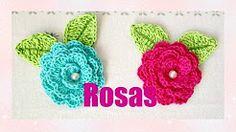 rosas flores y botones tejidos a crochet - YouTube