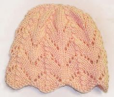 Free Knitting Pattern For Ripple Eyelet Baby Hat