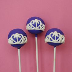 12 Sofia the First inspired Cake Pops for by SweetWhimsyShop