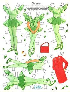 Bonecas de Papel: Bailarinas