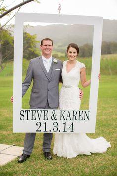 We love this Polaroid backdrop: http://www.stylemepretty.com/australia-weddings/2015/01/15/rustic-fall-wedding-at-silos-estate/ | Photography: Gemma Clarke - http://www.gemma-clarke.com/