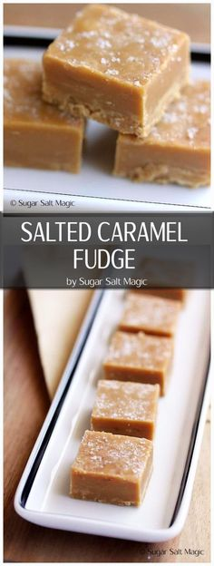 Smooth & creamy, easy to make caramel fudge with a sea salt topping Salted Caramel Fudge. Smooth & creamy, easy to make caramel fudge with a sea salt topping Salted Caramel Fudge, Caramel Recipes, Fudge Recipes, Candy Recipes, Sweet Recipes, Salted Caramels, Vanilla Fudge, Köstliche Desserts, Delicious Desserts