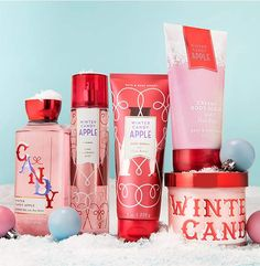 A sweet surprise! We'll be stocking our shelves with candy coated fragrances in fun new forms just for the holidays!