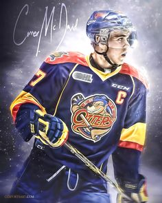 Conner McDavid - Erie Otters. Sports Art, Sports Logo, Sports Trophies, Connor Mcdavid, Edmonton Oilers, Sports Wallpapers, National Hockey League, Detroit Red Wings, Boston Bruins