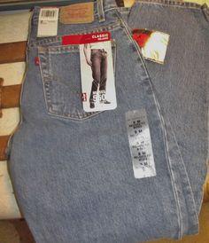 #Levis Misses 550 Classic Relaxed Cut Blue #Denim #Jeans NWT Size 8 Medium