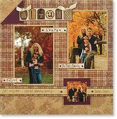 Scrapbook Layouts | Denise Foor Studio PA Vintage Wedding Stampin' Up! Scrapbook Layout