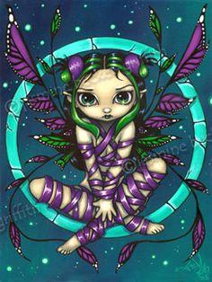 Purple Ribbon Faery ~ by Jasmine Beckett-Griffith.