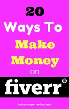 How to make money on Fiverr- Check out 20 ways to make money on Fiverr.  Read more here / http://www.affiliatmarketing2015.blogspot.com