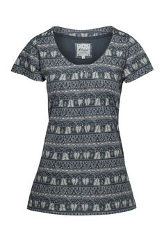 Tribal Stripe Tee Eclipse/Taupe - MISTRAL from Mistral UK