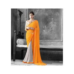 Viva N Diva Yellow & Grey Color Georgette Saree #celebstall #sarees #georgette #fashion #style #trend #onlineshopping