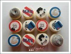 Gym themed cupcakes.