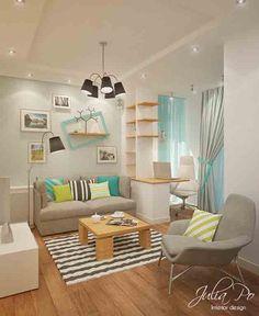 ruang tamu kecil cantik dan sederhana