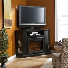Wildon Home ® Stuart 48″ TV Stand with Electric Fireplace  - 20 Cool TV Stand Designs for Your Home