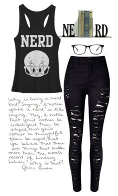 """""""Nerd and Proud!"""" by little-miss-emo-girl ❤ liked on Polyvore featuring WithChic and Dot & Bo"""