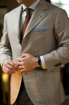 beautiful blazer, not a bad idea to try a blue pocket square with this.