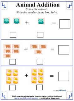 Kindergarten Addition Worksheet 1